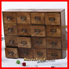 French Provincial Timber Pigeon Hole Mounted Chest of 16 Drawers Storage NEW