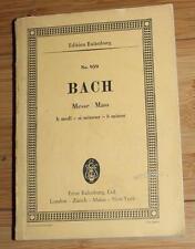 The High Mass by Johann Sebastian Bach S/C