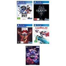 5 NEW Games PS4 VR( Codes -See Item Desc):Wipeout/DOOM/Astro Bot/Skyrim/VRWorlds