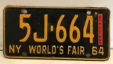 Antique 1964 New York World's Fair Lisence Plate USED