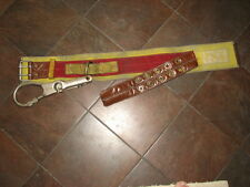 Used Size 40 Fireman's Belt with Large Carabiner