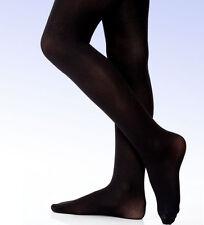 DANSKIN Girls' 387 Microfiber ULTRA SOFT Footed Tight BALLET Black - 2T - 4T