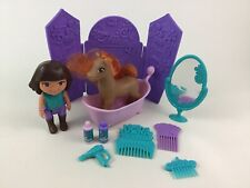 Dora The Explorer Horse Cleaning Toy Lot Shampoo Accessories Bathtub 2012 Mattel