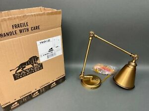 Savoy House Waucoba 1-Light Adjustable Sconce In Warm Brass #9-961CP-1-322 MIB