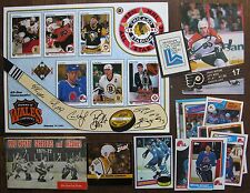 Hockey Lot: Michel Goulet Cards (with rookie),Kelloggs 1980 Olympic Sticker, etc