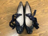 COLE HAAN DOWNTOWN LEATHER BALLET FLAT SHOES NWOB SIZE 7.5