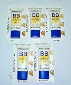 5x Sassy Chic B.B. Beauty LIGHT 1 Benefit Cream Multi-Action SkinCare, 1 oz ea.