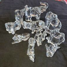 10 Franklin Mint Animals of The Ark Crystal Sculpture Figurines Giraffe Elephant