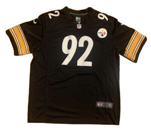 NFL Pittsburgh Steelers Nike Embroidered On Field James Harrison Jersey Mens XXL