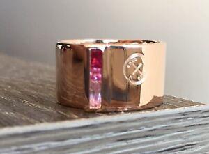 Oxus rose gold Swarovski ring - size M