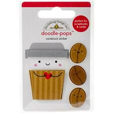 Doodlebug Doodle-pops 3D Stickers - Cream & Sugar - COFFEE MATES