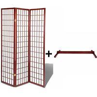 High Quality Oriental Room Divider Hardwood Shoji Screen +Stand(Cherry,3 Panel)