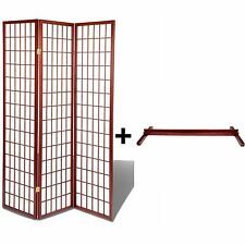 High Quality Oriental Room Divider Hardwood Shoji Screen +Stand(Cherry,3 Panel)