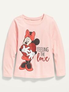 Old Navy Toddler Girls Minnie Mouse ~ Long Sleeve Graphic Tee ~ Size 12-18M - 5T