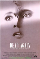 DEAD AGAIN MOVIE POSTER Original 1991 Rolled 27x40 EMMA THOMPSON ROBIN WILLIAMS