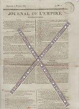 Journal de l'Empire du Dimanche 8 Février 1807. Imprimerie Le Normant.