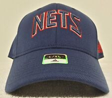 New Jersey Nets NBA Navy adidas Hat Cap New W/Tag Stretch Fitted L/XL Curve Brim