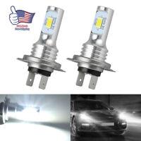 H7 LED Headlight Lamp Bulbs Conversion Kit High Low Beam 35W 4000LM 6000K White