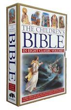 Children's Bible 8 Book Box Set Noah's Ark Samson Jesus Jonah Kids Picture New