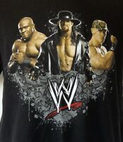 WWE 2007 Wrestling John Cena Undertaker Bobby Lashley Black S/S T-Shirt L