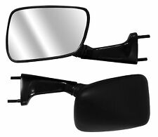 PAIR OF MOTORCYCLE UNIVERSAL FAIRING FITMENT MIRRORS WITH BLACK BODY