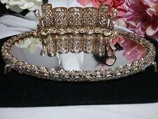 Vintage Gold Ormolu Cherub Angel Filigree Vanity Lipstick Accessory Mirror