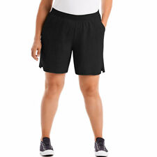 4e73585af8a Just My Size Women Plus 5x 30w-32w Black Wide Band Shorts