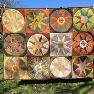 Patchworkdecke Sonnenstrahlen Plaid Quilt Tagesdecke Wandbehang Decke Strandtuch