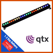QTX C-BAR 24 x 3W RGB DMX LED Bar Uplighter DJ Strip Light RGB DMX Colour Bar