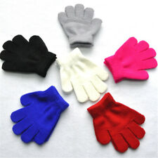 Kids Soft Knitting Winter Warm Gloves Boys Girls Multi Color Star Heart Mittens