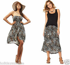 holidaysuitcase-size 6-16 Ladies bandeau 2 in 1 dress skirt summer holiday beach