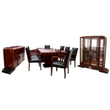 Art Deco Dining Set by Dominique, Ebony d'Massacar #6055 c. 1930