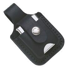 ZIPPO Echt Leder Etui schwarz mit Schlaufe für ihr Zippo NEU