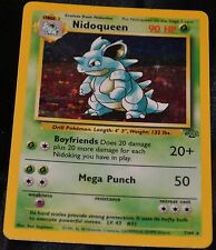 Holo Foil Nidoqueen # 7/64 Original Jungle Set Pokemon Trading Cards Rares PL