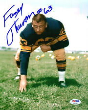 FUZZY THURSTON SIGNED AUTOGRAPHED 8x10 PHOTO GREEN BAY PACKERS LEGEND PSA/DNA