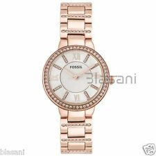 Fossil Original ES3284 Women's Virginia Rose Gold Stainless Steel Watch 30mm