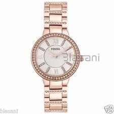 Fossil Original ES3284 Women's Virginia Rose Gold Stainless Steel Watch 30mm