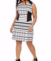 Jete Linear Geometric Colorblock Scuba Dress Size 5X