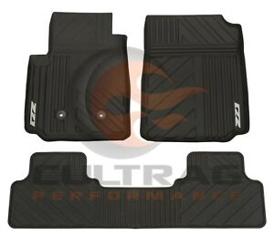 2015-2020 Colorado Crew Cab Z71 GM Front & Rear All Weather Floor Mats Black