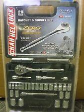 29pc Channel Lock 39102 Zero Degree Gearless Ratchet/Socket Set