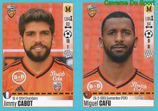 326-327 JIMMY CABOT - MIGUEL CAFU PORTUGAL LORIENT.FC STICKER FOOT 2017 PANINI