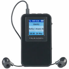 VR-Radio Digitales DAB+/FM-Taschenradio mit Akku, Stereo-Ohrhörern, Farbdisplay