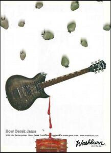 Allman Brothers Derek Trucks Signature Washburn Idol WI68 guitar 2003 ad print