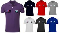 Mens BMW M Sport Motor Bimmer Beamer Raceday Club Polo Neck T-Shirt Small-XXL