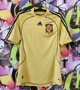 Spain National Football Team Shirt Soccer Jersey Training Top Adidas Mens Size S