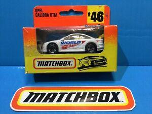 1998 MATCHBOX OPEL CALIBRA ITC DTM WHITE FRANCE '98 FOOTBALL WORLD CUP