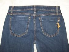 Womens Phat Fashions Silver Label Low Rise Flare Blue Denim Jeans 9 Cat EUC