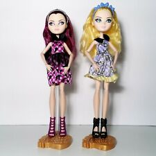 Ever After High Enchanted Picnic Lot 2 Raven Queen & Blondie Lockes Dolls Mattel