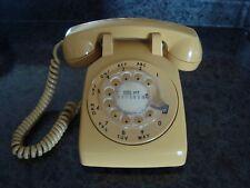 1957 YELLOW Northern Telecom ROTARY TELEPHONE Desk Phone VINTAGE