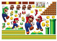 Super Mario Decals Removable Wall Sticker Bros Kids Nursery Home Decor Vinyl us